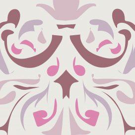 Adesivo Hidráulico Adamascado Rosa