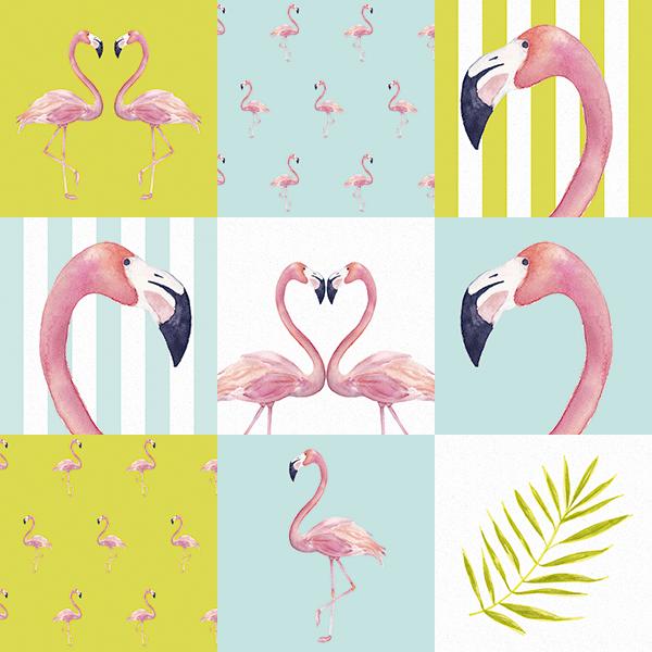 Adesivo De Unha Flamingo ~ Adesivos Hidráulicos Mix 11 u2013 Linha Flamingos Panoteria Tecidos de Parede Adesivados
